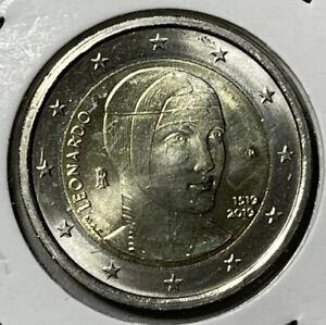2 euro commemorativo 2019 Italia FDC - Leonardo