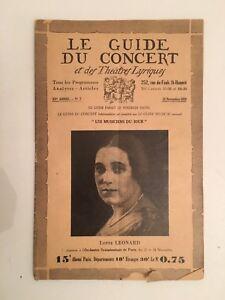 El-Guia-de-La-Concierto-Y-Las-Teatro-Letra-Lotte-Leonard-N-7-1928