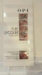 Details about OPI Pure Lacquer Nail Apps / Nail Polish Strips 16 Pre-Cut  Strips GIRLY GLAM