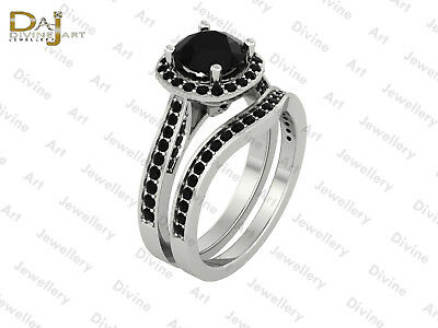 Black Onyx Womens Engagement Ring Bridal Wedding Ring Anniversary