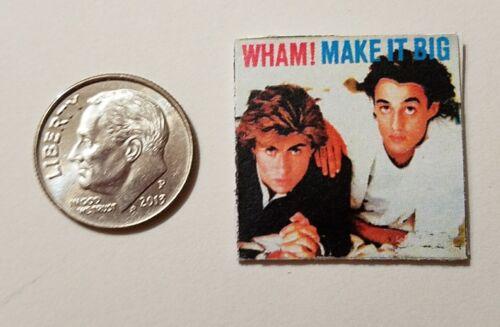 "Dollhouse Miniature Record Album 1/"" 1//12 scale Barbie  Wham 80s George Michaels"