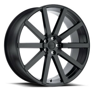 24 Inch 24x10 Redbourne Kensington Gloss Black Wheel Rim 5x120 35 Ebay