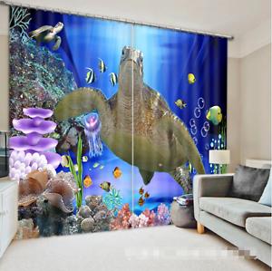 3d tortuga 965 bloqueo foto cortina cortina de impresión sustancia cortinas de ventana