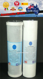 1 Pair Water Filter Cartridges 0.5 Micron Carbon & 0.5 Micron Sediment