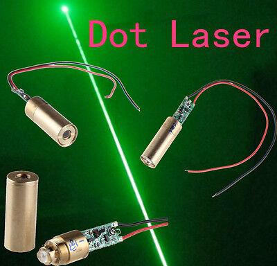 10mW 30mW 50mW 100mW 200mW 532nm Green Dot Laser Module Driver Spring/Wire(12MM)