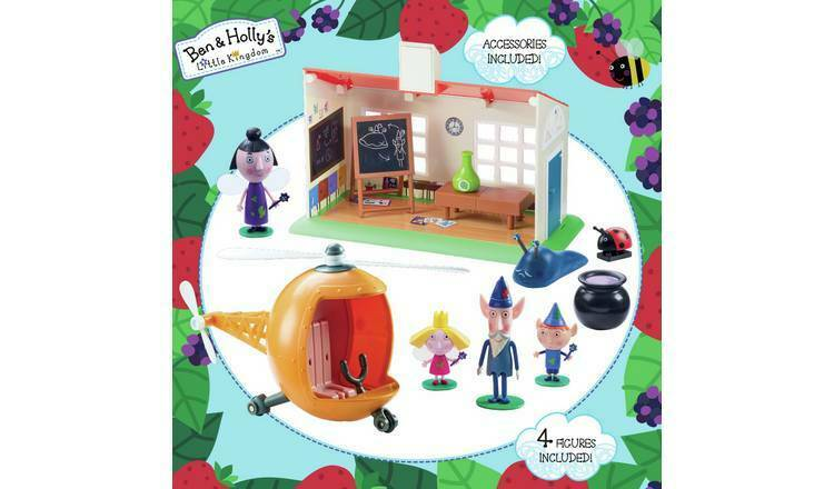 Ben & Holly Little Kingdom Wise Old Elf Rescue Playset Helicopter School house