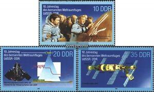 DDR-3190-3192-kompl-Ausgabe-gestempelt-1988-Weltraumflug