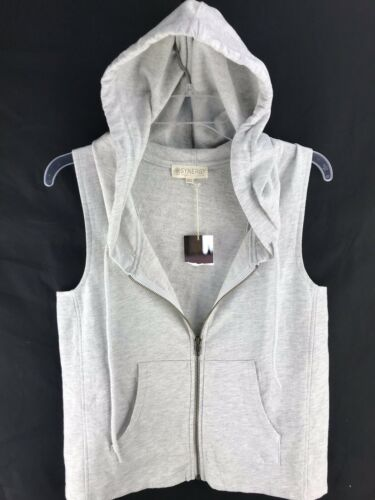 Synergy Organic Cotton Pacific Hoodie Womens Sleeveless Racer Sweatshirt GRAY