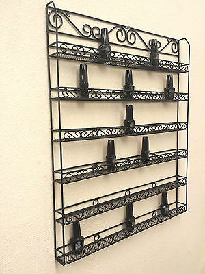Metal Wire Nail Polish Display Organizer Wall Rack (Hold 90 to 126 Bottles) USA