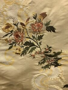 Old-World-Weavers-Silk-Embroidred-Drapery-Upholstery-Fabric-54x68-Yards-Long
