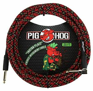 "Belle Pig Hog Pch20plr ""tartan Plaid"" Instrument Cable,-afficher Le Titre D'origine Haute Qualité"