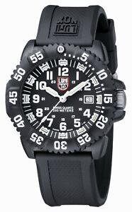 Luminox-US-Navy-SEAL-Colormark-Men-039-s-Swiss-Quartz-Rotating-Bezel-44mm-3051LUM