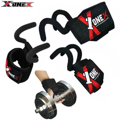 Onex Weight Lifting Gym Strap Cuff Straps Wrist Support Yoga Straps