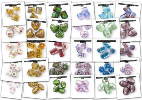 Decorative Shaped Lamp Bead  Jewellery  Colour And Shape Coordinated
