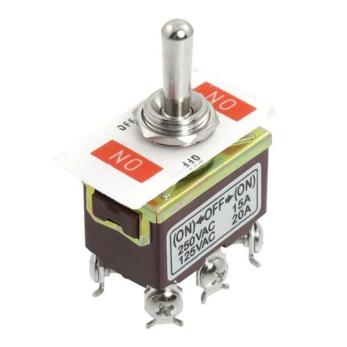 AC 250V//15A 125V//20A ON//OFF//ON 3 Position DPDT Momentary Toggle Switch Z2P6 SGH
