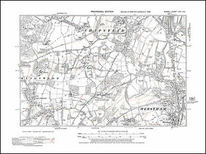 Chipstead S Lower Kingswood Merstham NW in 1938 old map