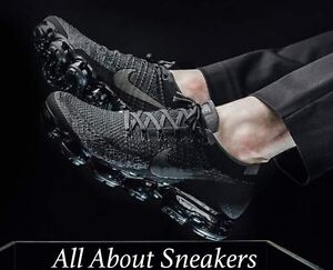Nike Air VaporMax Flyknit NERO BLACK Triple/DARK GREY 849558007 RARO morto