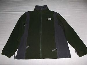 The North Face Boys Winter Fleece Jacket Green   Gray SIZE Medium ... a2c7b00be