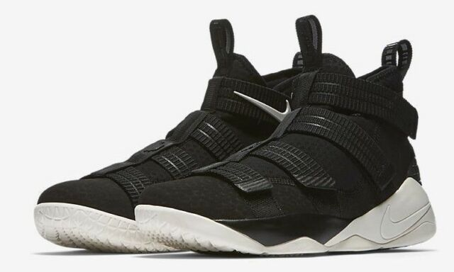 save off 53263 f9805 NIB MENS NIKE LEBRON SOLDIER XI 11 SFG BLACK WHITE BASKETBALL LIFESTYLE  SHOES