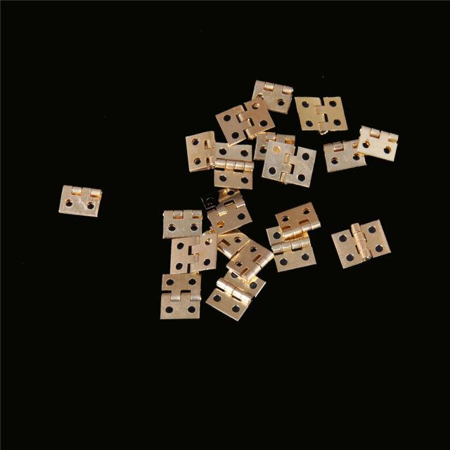 CH 20pcs Mini Brass Plated Hinge Small Decorative Jewelry Cigar Box Hinges