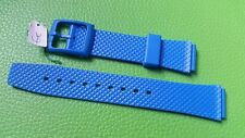 BRACELET MONTRE  /// watch band PVC /16/20mm / BLEU  / BN17 ATTENTION COULISSANT