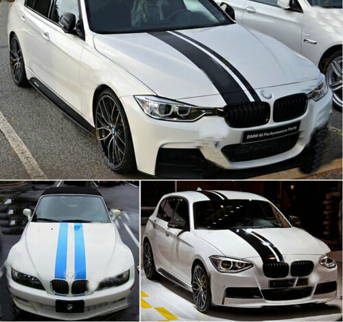 "6/""x50/"" 3D 5D 7D Carbon Fiber Sticker Racing Car Side Stripe hood Stripe stripr"