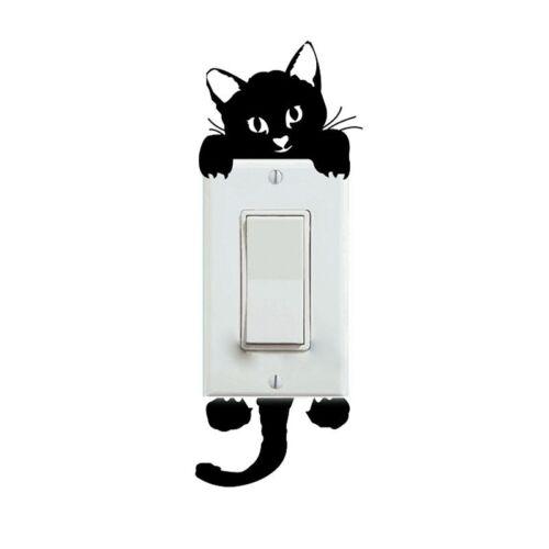 Wall Stickers Animals Cat Light Switch Decor Decals Art Mural Baby Nursery Room