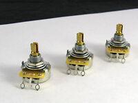Cts 250k Short Shaft Pots Audio Taper Set Of 3 Ep 0085-000