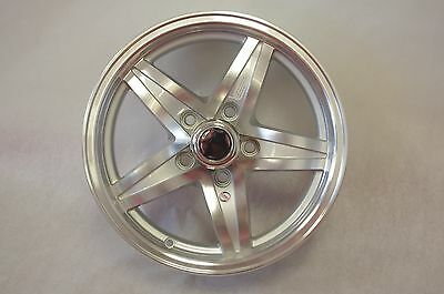 "New NITRO Aluminum Trailer Wheel Rim 15x5 5 on 4.5"" Machined w/ Silver detail"