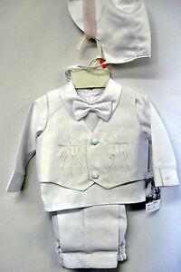 Baby-Boy-Communion-Christening-Baptism-Outfit-Suit-Set-size-XS-S-M-L-XL-0-24M