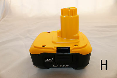 3 new unbranded rechargeable lithium ion li-ion battery for Dewalt DC9180 18V 3A