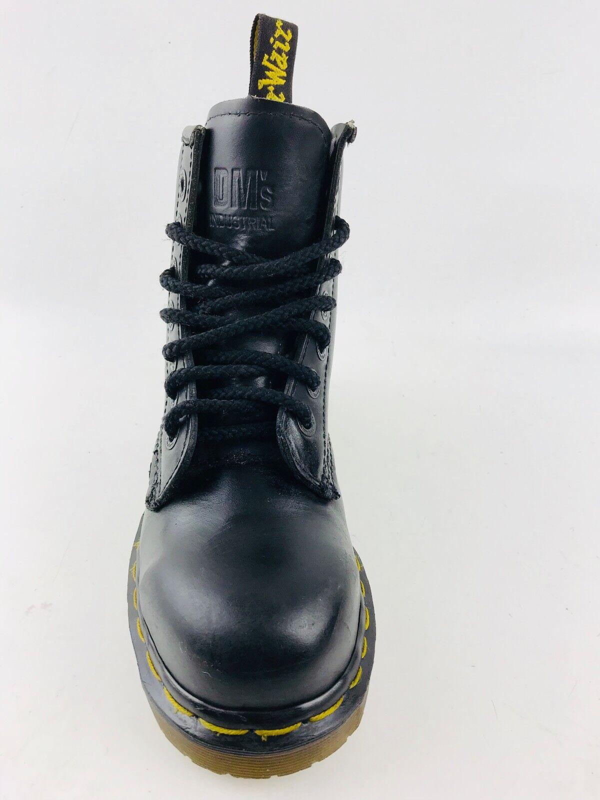Dr. Martens DMS 7 Eye Steel Toe Women's Black Boots Size US.6/ UK.4/EU.36.5