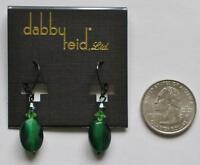Dabby Reid Ronnie Mae Emerald Green Cats Eye Earrings Hematite-plated Rme4390b