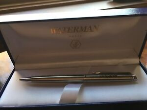 Brushed Stainless Waterman Mechanical Pencil In Box Ebay