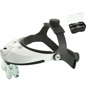 Multi Power Led Headband Magnifying Glass Helmet Dental