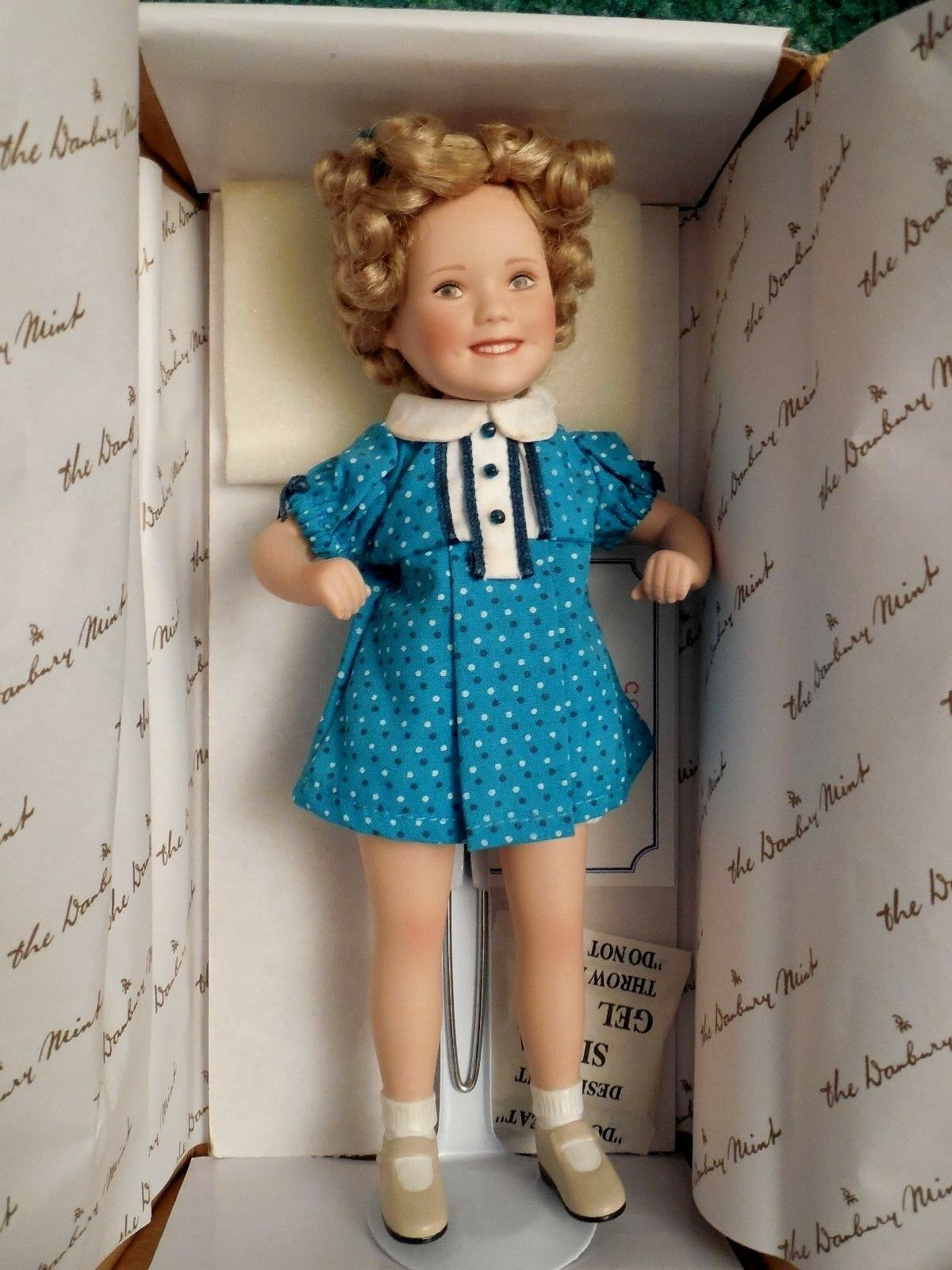 SHIRLEY TEMPLE DOLL -  BABY TAKE A BOW   MOVIE MEMORIES DANBURY MINT
