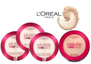 Image is loading L-039-OREAL-INDEFECTIBLE-INFALLIBLE-POWDER-FOUNDATION-NEW-