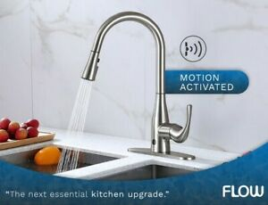 Motion Activated Kitchen Faucet Single Handle Pull Down Sprayer Chrome Nickel Ebay