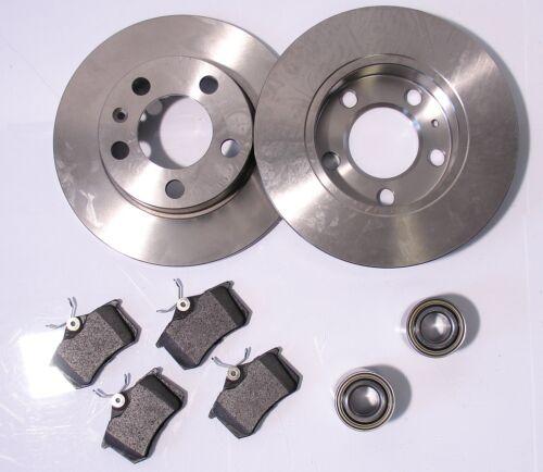 97 2 disques de frein 4 Plaquette De Frein Roulement de roue arrière essieu arrière Audi a4 ab Bj