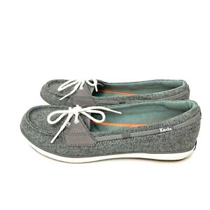 Keds Ortholite Gray Wool Comfort Slip