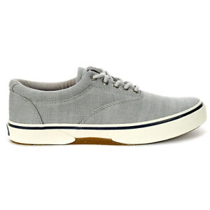 Sperry-Top-Sider-Men-039-s-Halyard-2-EyeLace-Up-Baja-Grey-Boat-Shoes-STS22380-NEW