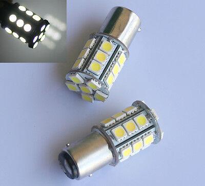 1x Weiß T25 1157 P21/5W BAY15D 24 LED 5050 SMD Bremslicht Rücklicht Birne Lampe