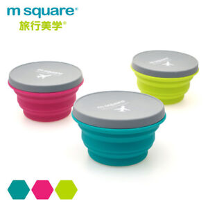 Image Is Loading M Square Silicone Folding Cup Bowl Telescopic Collapsible