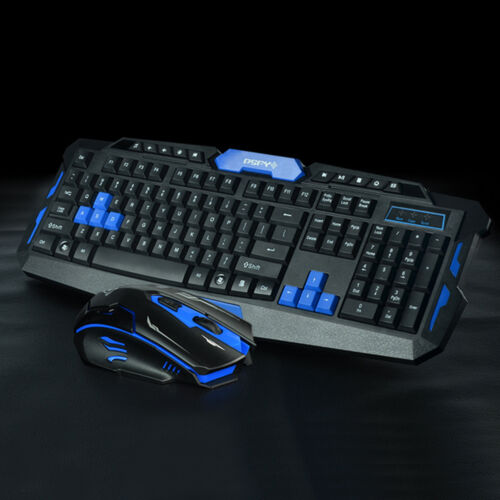 New Wireless 2.4G Gaming keyboard and Mouse Set For Computer PC Multimedia Gamer