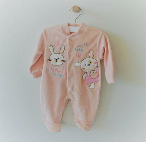 Baby Nicki Kids Winter Strampler Mütze Samt 56 62 68 Mädchen Cute Hase Flauschig