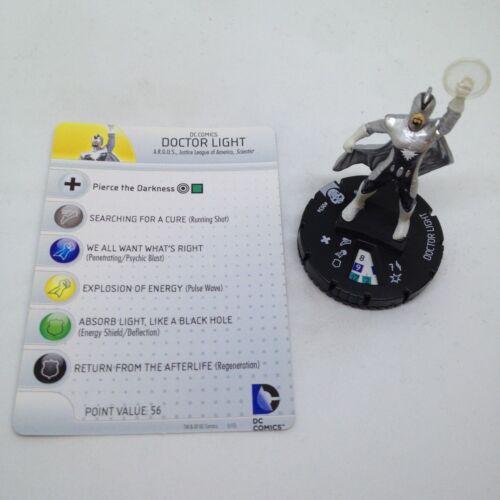 Heroclix Justice League Trinity War set Doctor Light #003a Common figure w//card!