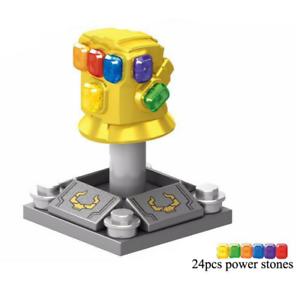 24pcs Infinity Stones Minifigure Avengers for CUSTOM Lego Gloves Mini Fig war