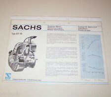 Typenblatt / Technische Daten Sachs Stationär Motor ST 76 - Stand 1974!