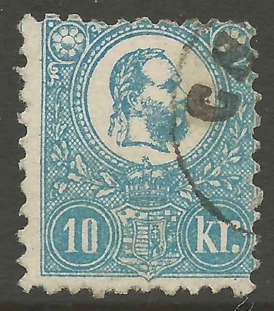 HUNGARY SG5 1871 10k BLUE USED