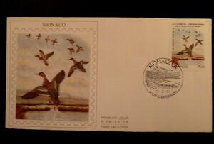 Monaco Premier Jour Fdc Yvert 1756 Sarcelle 4f 1989